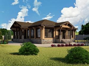 Проект одноэтажного дома № 046.01