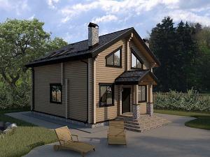 Проект дома с мансардным этажом №047.01