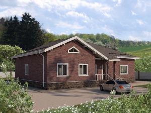Проект одноэтажного дома № 048.02