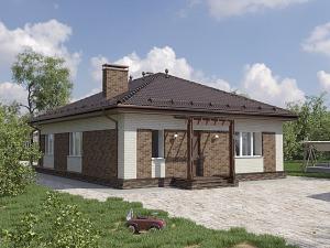 Проект одноэтажного дома № 052.02